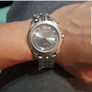 Silver seiko watch